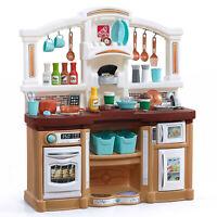 Kitchen Kids Play Set Pretend Baker Toy Cooking Playset Girls Food Accessories
