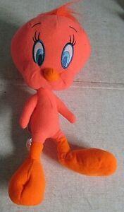 "Florescent Tweetie 10"" Plush Figure wTags 2013 Warner Brothers Looney Tunes Show"