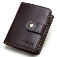 Mens Genuine Leather Wallet Bifold RFID Blocking Credit Card Holder Pocket Purse