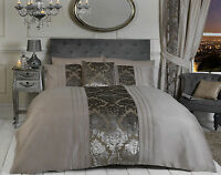 Mink Brown Luxury Bedding Set Duvet Cover & Pillow Cases Cushion Cover