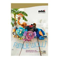 """Addi instrucciones mano libro de trabajo familia """"Wolli"""" tejer con addi Express 975-0"""