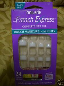 BIG LOT NAILENE SALON FRENCH EXPRESS NAIL KITS # 77283
