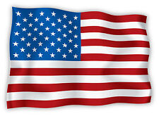 """USA United States of America flag sticker decal 6"""" x 4"""""""