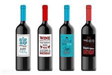 Wine bottle Labels Custom Birthday Party Celebration for Four (4) Bottles 4.25 x
