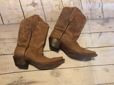 Corral Women's Distressed Snip Toe Western Boots Size 6M C2033 Cowgirl Brown