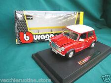 BBURAGO BURAGO serie PLUS 1/24 MINI COOPER red 1969 Austin British Leyland Rover