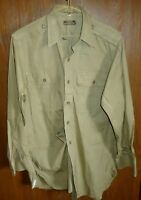 WWII era US Army Officer Shirt, Light Weight Khaki Cotton, Named, 15x33