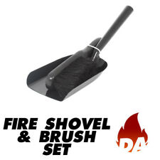 FIRE SHOVEL AND BRUSH SET FOR OPEN FIRES, WOOD & MULTI-FUEL BURNING STOVES