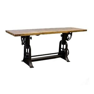 Industrial Drafting Table for Artist or Use for Kitchen End or Side Stunning