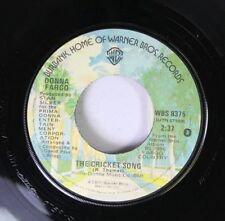 Country 45 Donna Fargo - The Cricket Song / That Was Yesterday On Warner Bros Re
