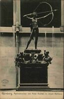 Nürnberg Mittelfranken AK ~1910 Apollobrunnen Apollo Brunnen von Peter Vischer