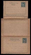 Entier Postal : SAGE 15c bleu sur CARTE POSTALE avec CARTE-REPONSE / Lot France
