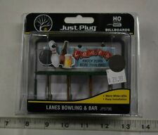 "HO Scale Woodland Scenics ""Just Plug"" Billboards 5796, Lane's Bowling & Bar"