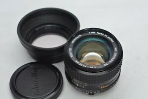 [EXC+5 w/ Hood] Minolta MC ROKKOR-PG 50mm f/1.4 Standard MF MD Mount Lens JAPAN