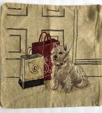 "HOME DECOR PILLOW SHAM COVER TERRIER SCOTTIE DOG 17.5"" SQUARE DOG LOVER"