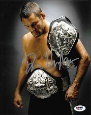 Dan Henderson Signed UFC 8x10 Photo PSA/DNA COA Pride Picture w/ Belt Autograph
