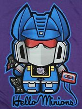 """Hello Minions"" Soundwave Ravage Laserbeak Kitty Mashup Men's XL Shirt Ript"