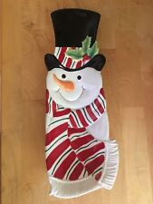 Fitz & Floyd Christmas Snack Therapy Snowman Server Tray Platter w/ box
