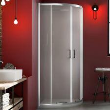 Box doccia 90x90 semicircolare cabina in cristallo temperato apertura scorrevole