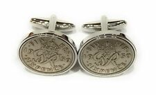 Premium 1947 Lucky sixpence cufflinks for a 73rd Birthday cufflinks