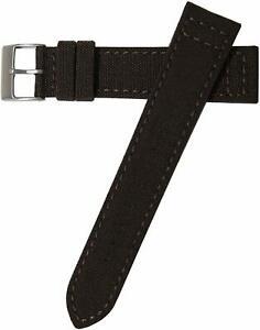 Hadley-Roma MS850 18mm to 22mm Black 'Cordura' Men's Genuine Watch Band
