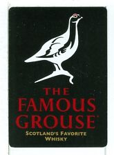 """Single Wide Playing Card, """"The Famous Grouse"""" Scotch Whisky, Wide"""
