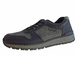 Rieker,Schnürschuhe,LEDER,Halbschuh,Sneaker, Herren,Schuhe,Schwarz,Grau 201509