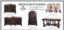 * Rockford Dining Room Furniture Set * circa 1925