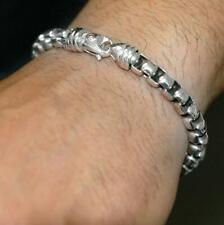 """DAVID YURMAN  STERLING SILVER 7.3mm Men's Bracelet 8.5"""""""