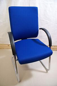 4 hochwertige Dauphin Adjust / @Just Freischwinger,Besucherstühle mit Armlehnen.