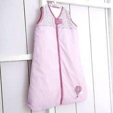 Baby Sleep Sac Filles 0-6 mois 1.7 Tog Brodé Lilas Rose Hot Air Balloon