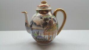 Vintage Japanese Hand Painted Egg Shell Porcelain Teapot