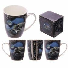 Tazza mug colazione in porcellana con design Lupo che dorme al chiarore