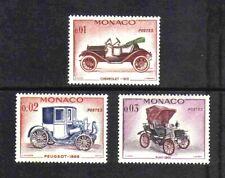 Monaco 1961 Veteran Motor Cars short set of 3 values MNH
