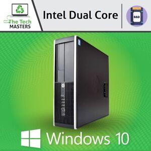 HP/Dell Intel Dual Core 4GB RAM 120GB SSD Desktop SFF PC WiFi & Windows 10