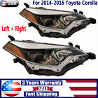 For 2014 2015 2016 Toyota Corolla LED Headlights Projector Headlamp Left+Right