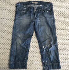SEE by Chloe Distressed Ripped Cropped Jean Capris Womens Size 28