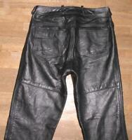 """fette """" LOUIS """" Herren- LEDERJEANS / Biker- Lederhose in schwarz ca. W32""""/ L30"""""""