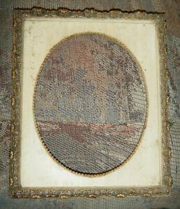 "Antique Vintage Gold & White FRAME, Ornate 8 x 10"", No Glass"