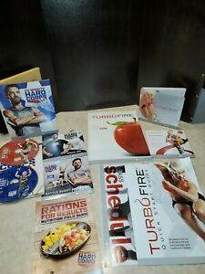 Turbo Fire DVD set 11 Total DVDs and guides + 22 minute corps.