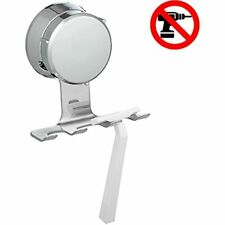 Home So Razor Holder With Suction Cup Hanger - Hygienic Bathroom Organizer Holds