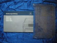 Bordmappe & Bedienungsanleitung-Mercedes-W126-280S-28SE-280SEL 1984 Brochure RAR