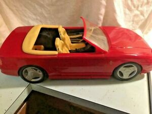 Barbie Ford Mustang GT Convertible Car Red  Mattel