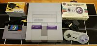 Super Nintendo SNES System Console 2 Controllers  Super Mario World Game TESTED