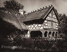 1924 Vintage GERMANY Konigsberg House Fence Ladder Landscape Photo By HIELSCHER