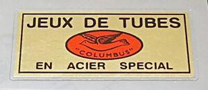 Columbus Jeux de Tubes Decal - Mirror Gold (sku Colu832)
