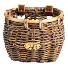 "Nantucket Bike Basket Tuckernuck Classic Rattan Gray 11.5""x9.5""x9.5"""