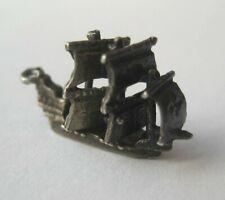 Silver Bracelet Charm Sails Move Vintage Sterling Sailing Schooner Ship