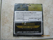 Browning Mirage knife replacement blades 2 Serrated blades Mirage Large Folder