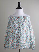 J.CREW $98 Liberty Art Fabrics Edenham Floral Off The Shoulder Top Size 6